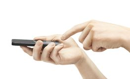Hands holding Phone Stock Images