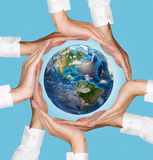 Hands holding Planet Royalty Free Stock Photography