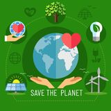 Banner is the savings of our planet earth. Vector illustration. vector illustration
