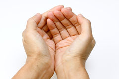 Hands in holding position Stock Photography