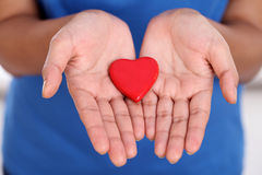 Hands holding red heart shape Royalty Free Stock Photography
