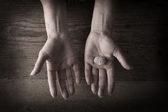 Hands holding rocks Royalty Free Stock Photos