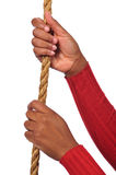 Hands Holding Rope Royalty Free Stock Photos