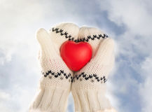 Hands holding rubber heart Royalty Free Stock Image