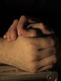 Hands holding shadows Stock Images