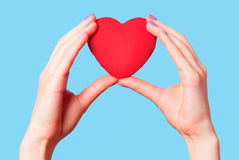 Hands holding shape heart Stock Images
