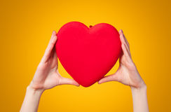 Hands holding shape heart Royalty Free Stock Images