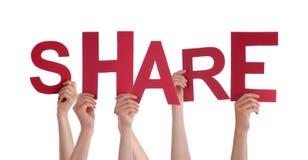 Hands Holding Share vector illustration