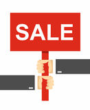 Hands holding a sign. Sale Stock Images