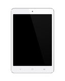 Small White Tablet Computer on white royalty free stock images