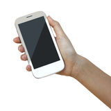 Hands are holding   Smart Phone Stock Images