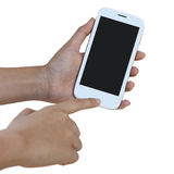 Hands are holding   Smart Phone Royalty Free Stock Photo