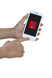 Hands are holding  on Smart Phone,shopping Royalty Free Stock Photo