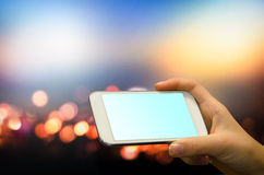 Hands holding smartphone. Stock Photography