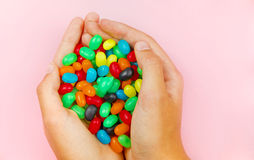 Hands holding some tasty candy Royalty Free Stock Images