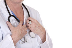 Hands holding stethoscope Stock Images