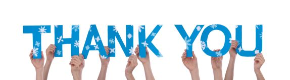 Hands Holding Thank You Royalty Free Stock Image