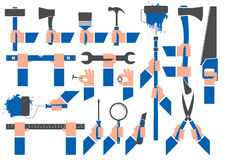 HANDS HOLDING TOOLS Stock Images