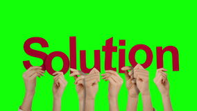 Hands holding up solution stock footage