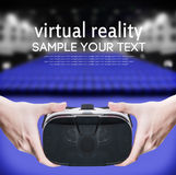 Hands holding virtual glasses Stock Photos