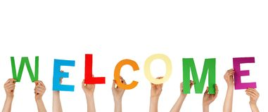 Free Hands Holding WELCOME Stock Photos - 30613973