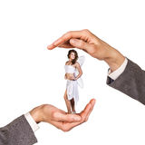 Hands holding woman royalty free stock photos