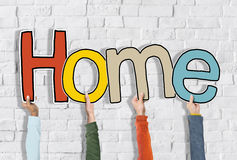 Hands Holding Word Home Concept Royalty Free Stock Photos