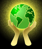 Hands Holding World Globe Illustration Royalty Free Stock Image