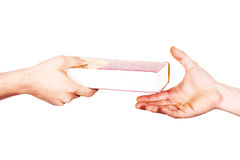 Hands holds the bible Stock Photo