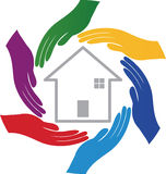 Hands with home stock illustration
