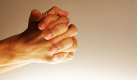 Hands in hope Royalty Free Stock Photo