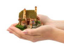Hands and house Royalty Free Stock Images