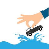 Hands and Car. house insurance Stock Photography
