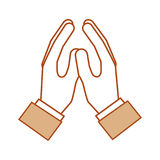 Hands human protected icon Stock Image