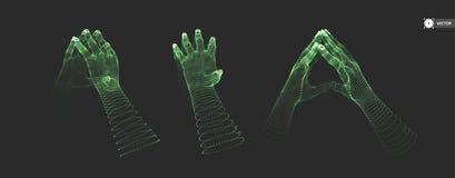hands human två Anslutningsstruktur äganderätt för home tangent för affärsidé som guld- ner skyen till vektor illustrationer