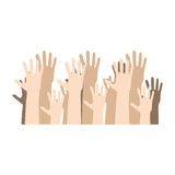 Hands human up democracy ison Royalty Free Stock Photos