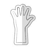 Hands human up isolated icon Royalty Free Stock Photography