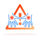 Hands hygiene advice signal. Vector illustration for hands hygiene alert symbol, related to prevention of diseases and viruses and important advice to keep clean vector illustration