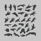 Hands icons. Authors illustration in vector Royalty Free Stock Image