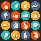 Hands Icons Set Royalty Free Stock Photos