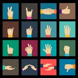 Hands icons set Royalty Free Stock Photo