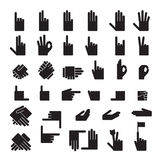 Hands icons Stock Images