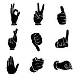 Hands icons set Stock Photography