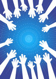 Hands illustration Royalty Free Stock Photography