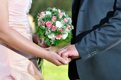Hands In Marriage Royalty Free Stock Photography