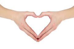 Free Hands In The Form Of Heart Royalty Free Stock Images - 22911319