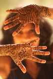 Hands of Indian Bride Stock Photos