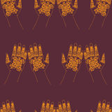 Hands with indian mehendi henna Royalty Free Stock Images