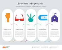 Hands infographics design. Infographics design  and Hands, Glasses, Pencils, Sharpener, High school icons can be used for workflow layout, diagram, annual report Royalty Free Stock Photo