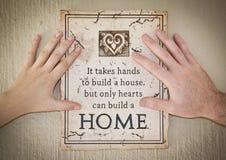 hands inspirera meddelande två Royaltyfri Bild